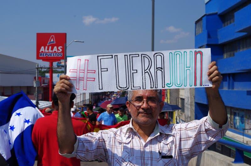 La protestation de jour de travail march Tegucigalpa le Honduras en mai 2019 6 photos libres de droits