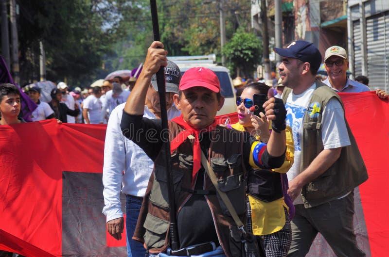 La protestation de jour de travail march Tegucigalpa le Honduras en mai 2019 1 images libres de droits