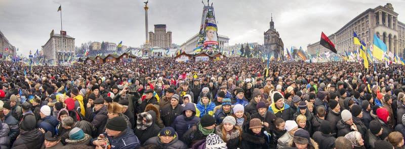 La protestation de masse contre les Ukrainiens pro-russes chassent Presiden images libres de droits