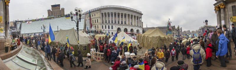 La protestation de masse contre les Ukrainiens pro-russes chassent Presiden photographie stock