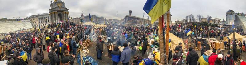 La protestation de masse contre les Ukrainiens pro-russes chassent Presiden photo libre de droits
