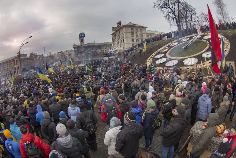 La protestation de masse contre les Ukrainiens pro-russes chassent Presiden photo stock
