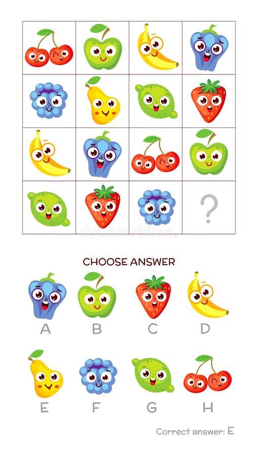 La prueba del índice de inteligencia elige respuesta correcta stock de ilustración