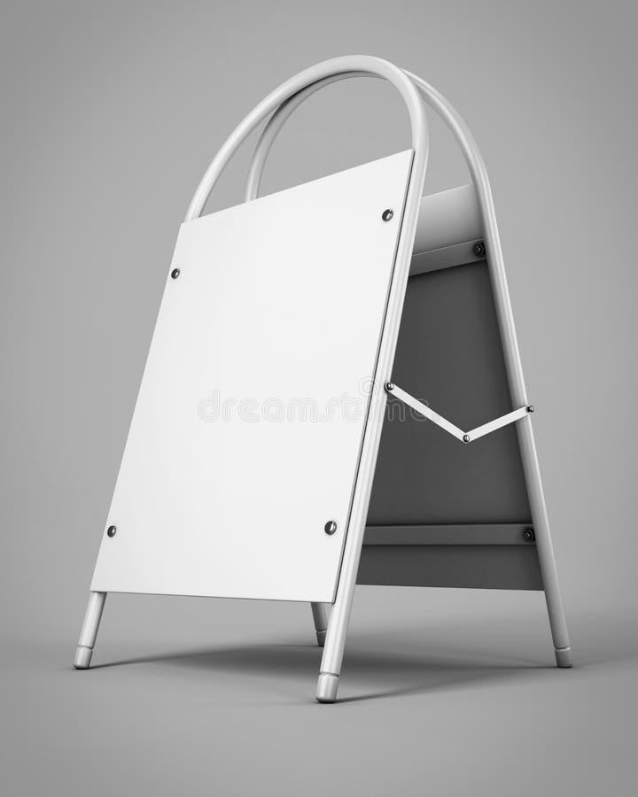 La pubblicità all'aperto corrisponde alla vostra progettazione Scaffale promozionale 3d illustrazione vettoriale