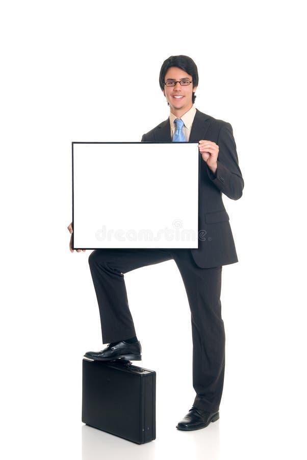 La publicité de l'homme d'affaires photographie stock