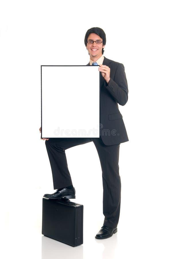 La publicité de l'homme d'affaires photo libre de droits