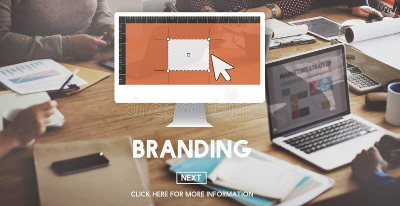 La publicité de marquage à chaud de marque concept commercial de vente images stock