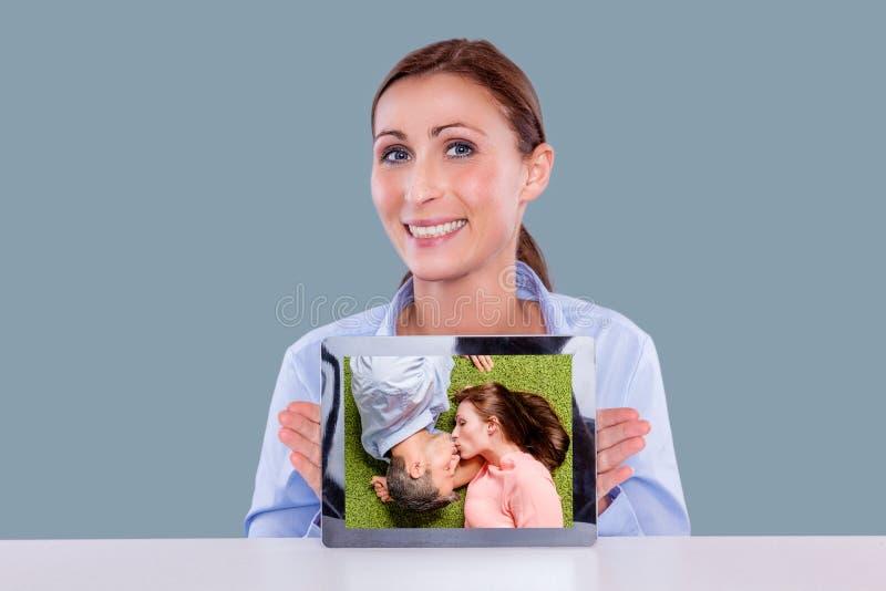 La publicité de Tablette photographie stock
