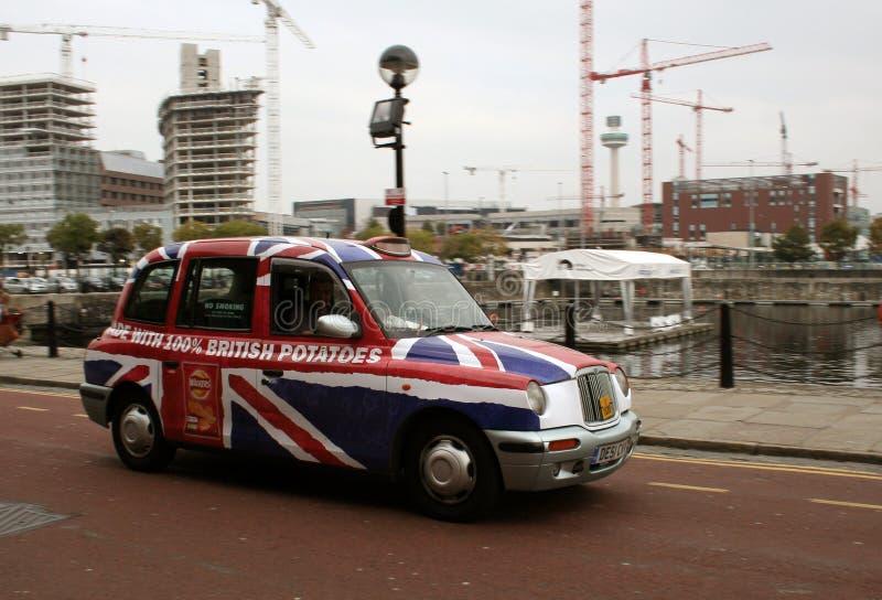La publicité de taxi de taxi image stock