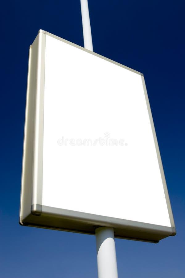 La publicité du blanc 2 de panneau-réclame photos libres de droits