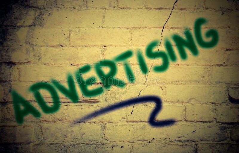 la publicité du concept photographie stock