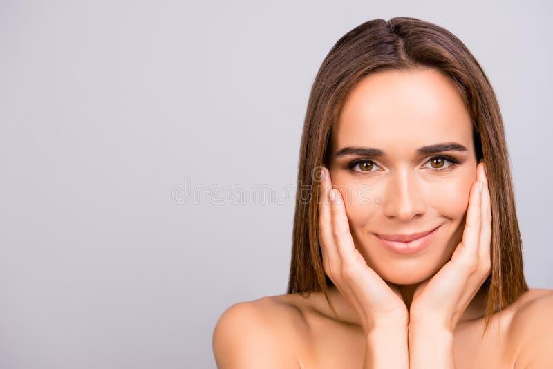 la publicité du concept Portrait de gogreous, charme, joli, chaud photo stock
