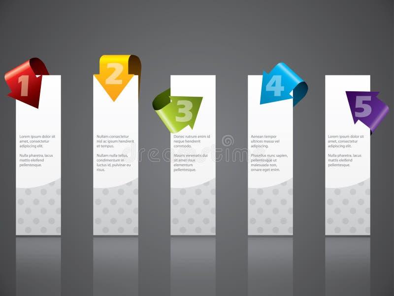 La publicité du positionnement d'étiquette avec les flèches fraîches illustration stock