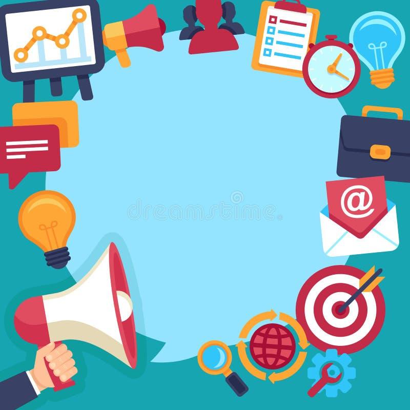 La publicité et promotion de vecteur illustration stock