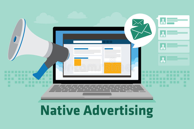 La publicité indigène illustration stock