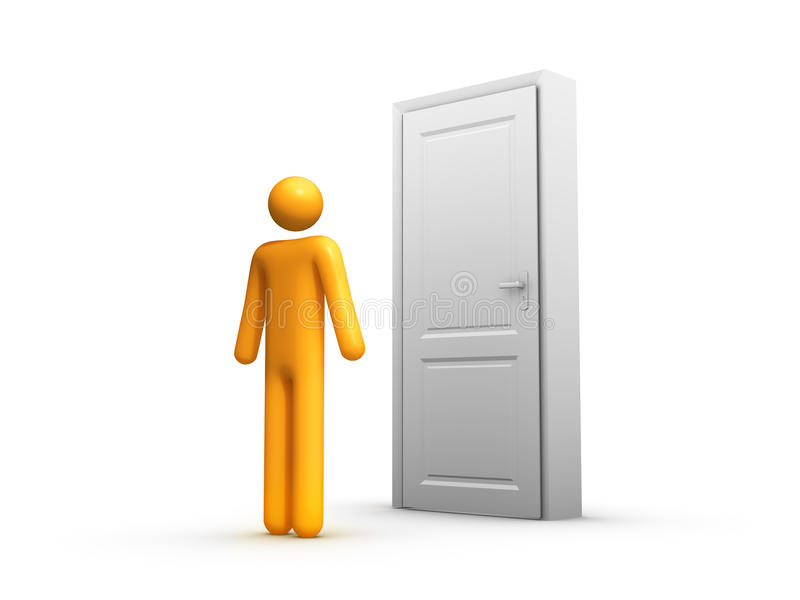 La puerta stock de ilustración