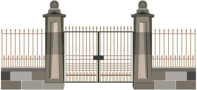 La puerta ilustración del vector