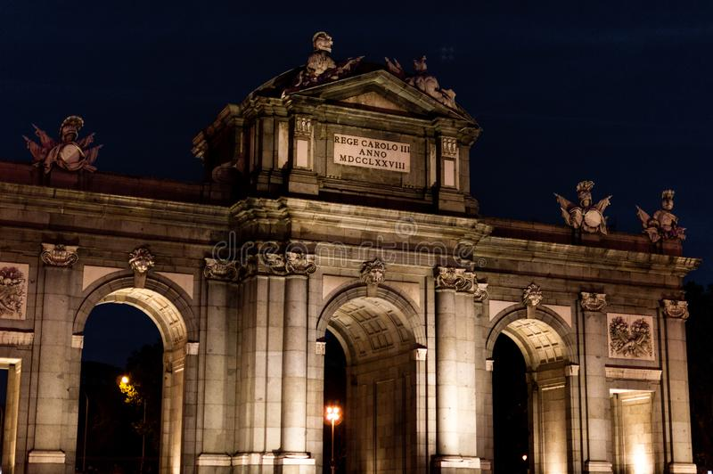 La Puerta de Alcala fotografia de stock royalty free