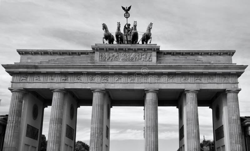 La puerta de Brandenburgo foto de archivo