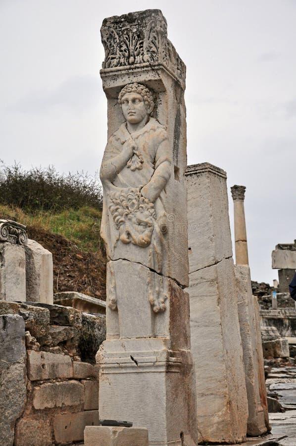 La puerta de Heracles es una estructura significativa en Ephesus foto de archivo libre de regalías