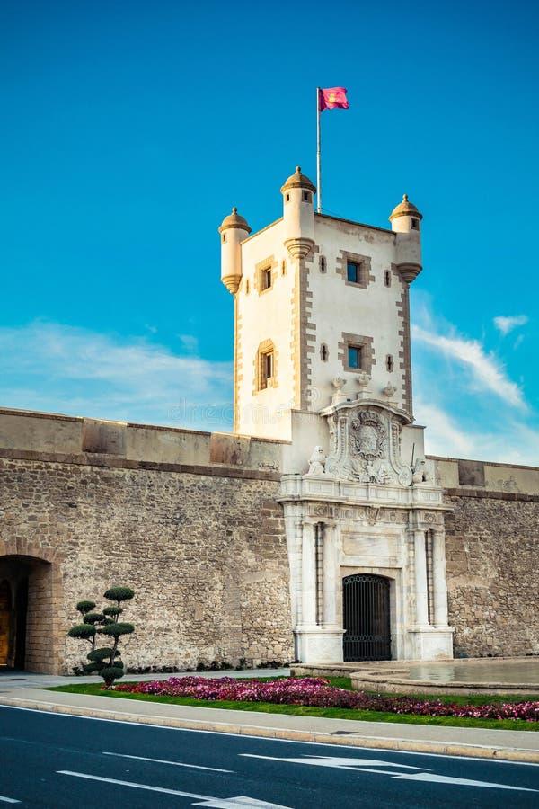La Puerta DE Tierra in Cadiz stock foto