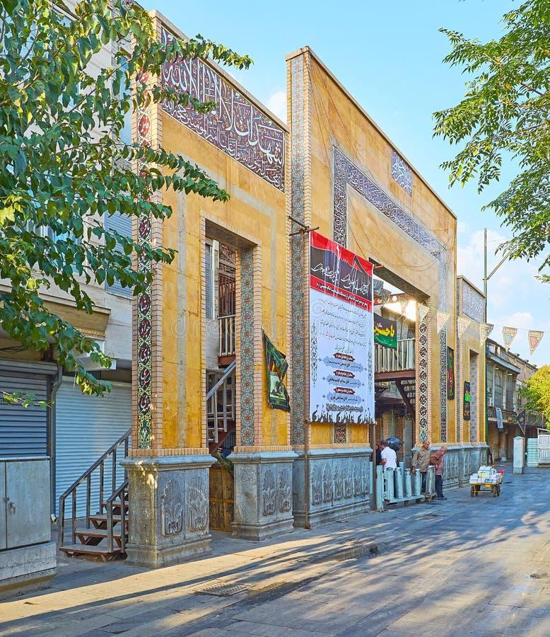 La puerta del bazar magnífico de Teherán fotografía de archivo libre de regalías