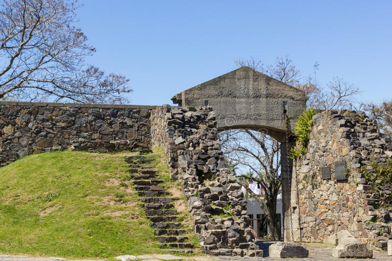 La Puerta Del Campo, the entrance to the old and historical part of Colonia del Sacramento, Uruguay. It is one of the oldest. Cities in Uruguay. World Heritage royalty free stock photography