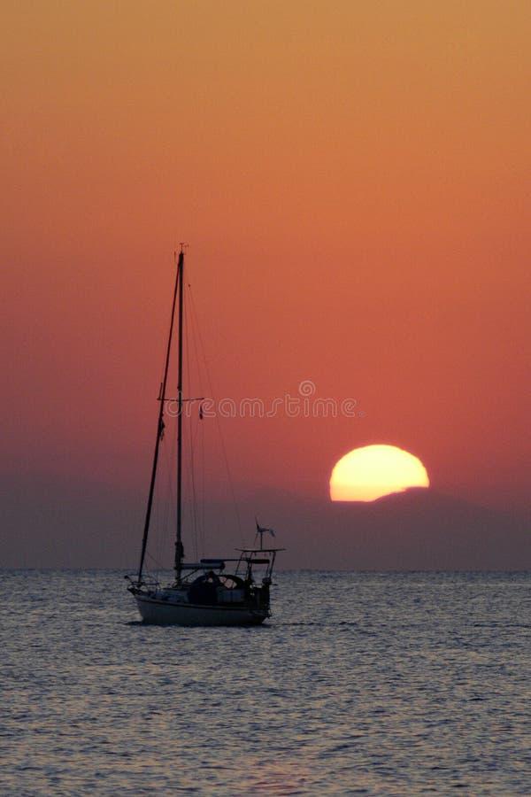 La puesta del sol. imagenes de archivo