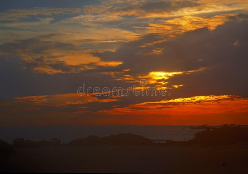 La puesta del sol en quejas dirige, Carolina del Norte foto de archivo libre de regalías