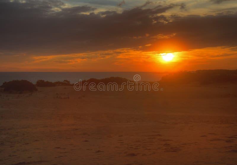 La puesta del sol en quejas dirige, Carolina del Norte imagen de archivo libre de regalías