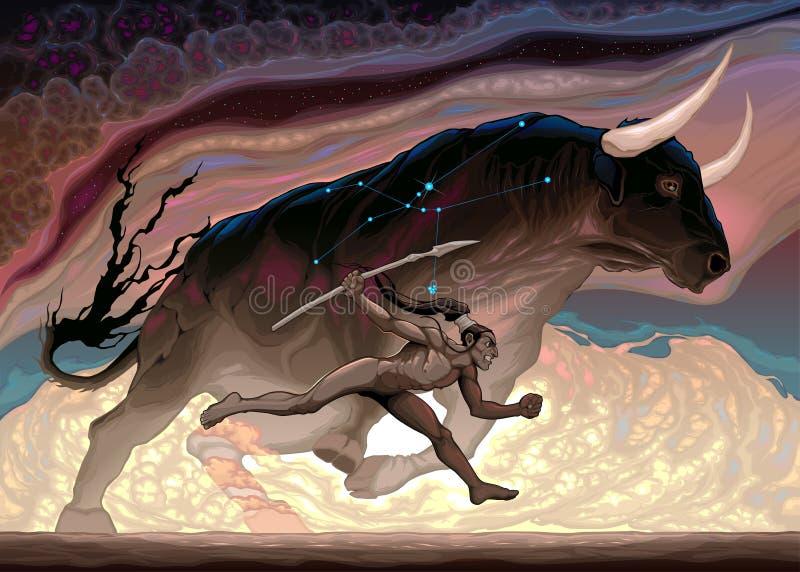 La puissance du Taureau illustration stock