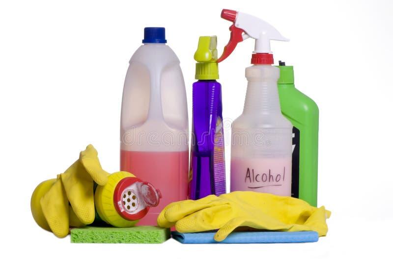 La pulizia fornisce 5 fotografia stock