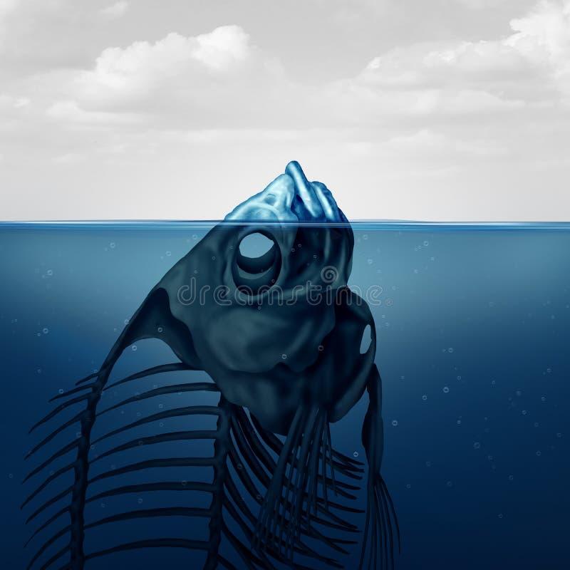 La punta dell'iceberg di ghiaccio illustrazione di stock