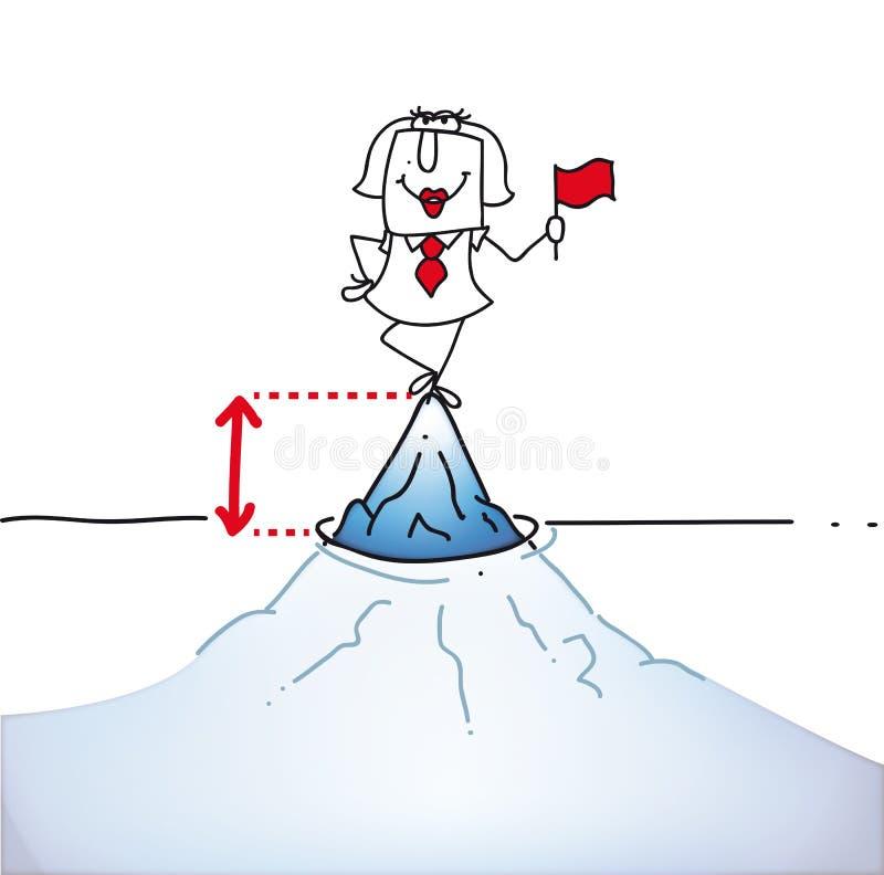 La punta dell'iceberg di ghiaccio illustrazione vettoriale