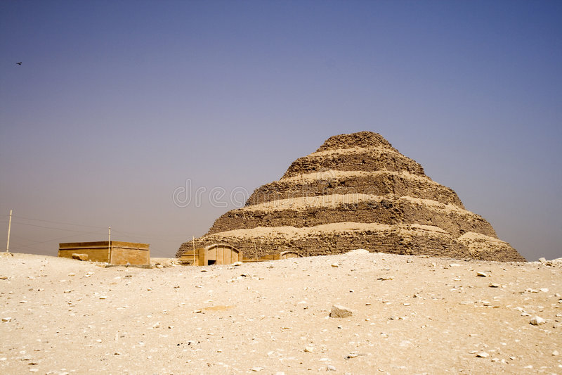 La pyramide d'opération de Djoser image libre de droits