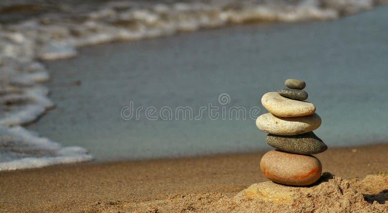 La pyramide de la plage de la Baltique photos libres de droits