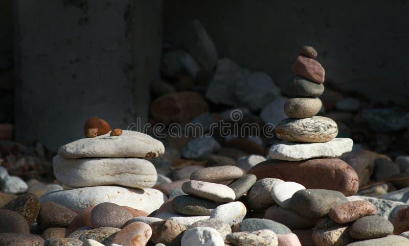 La pyramide de la plage de la Baltique image stock