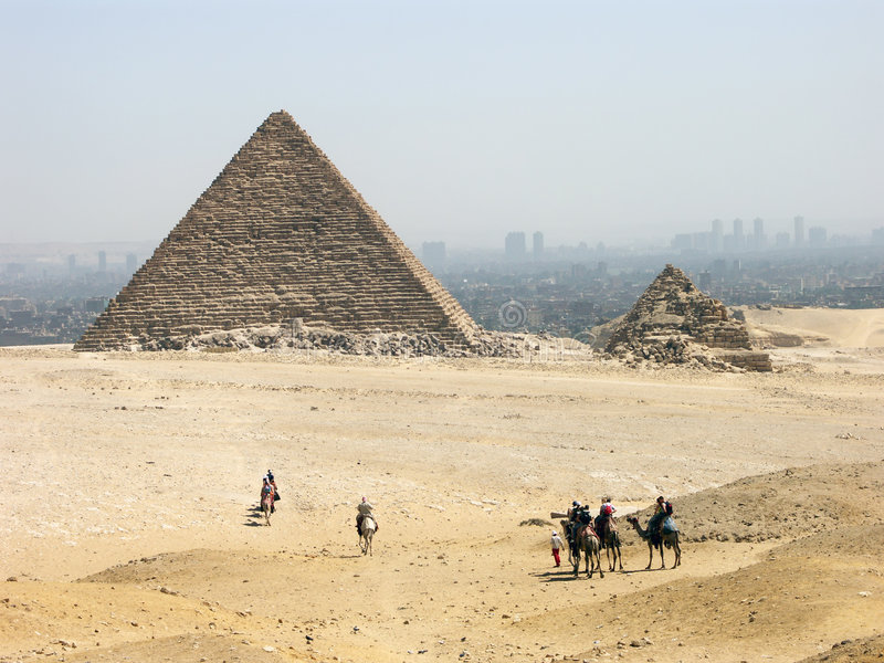 La pyramide de Menkaure image stock