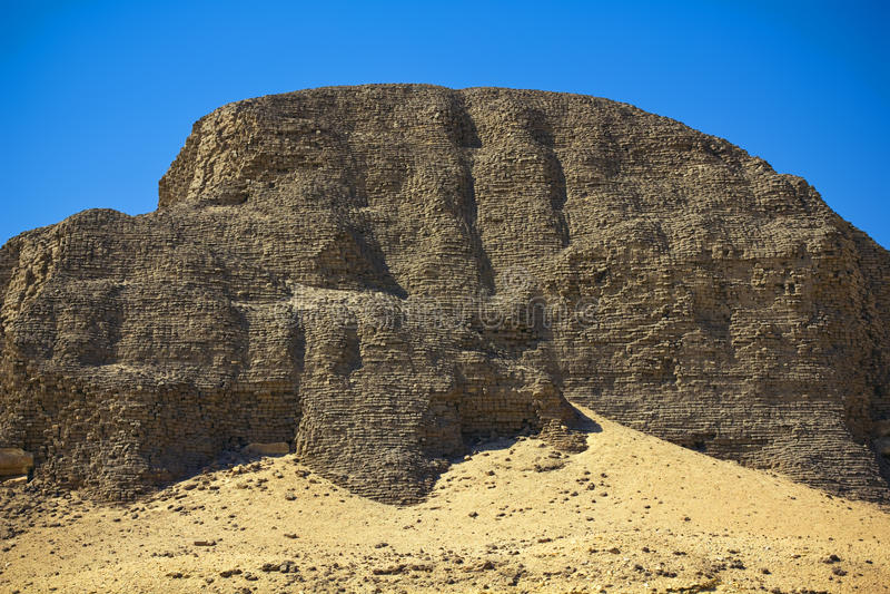 La pyramide de Senusret II photographie stock