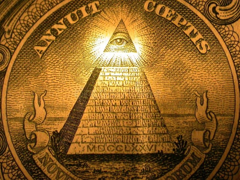 La pyramide desserrent en fonction du dollar photographie stock