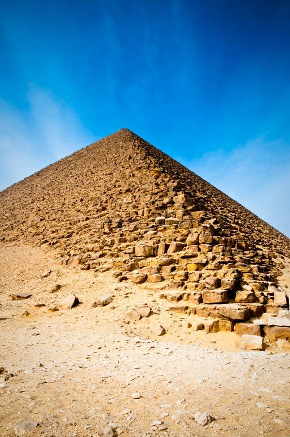 La pyramide rouge en Egypte photos libres de droits