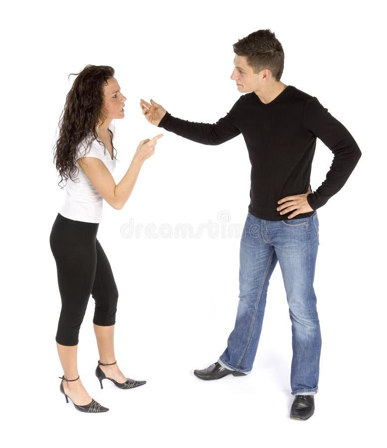 La querelle du couple images libres de droits
