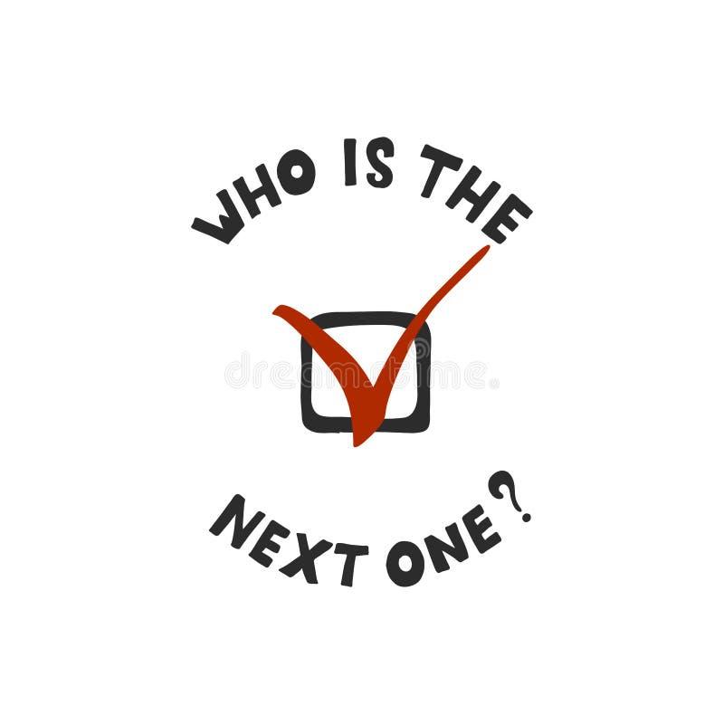 La question de qui remportera l'?lection pr?sidentielle aux Etats-Unis en 2020 illustration stock