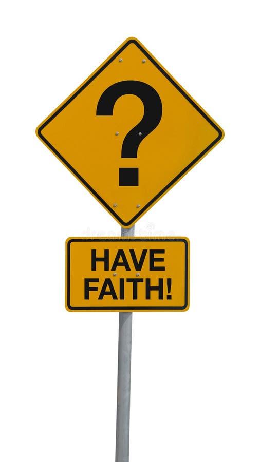 La question Mark Road Sign W ONT le message de FOI image stock