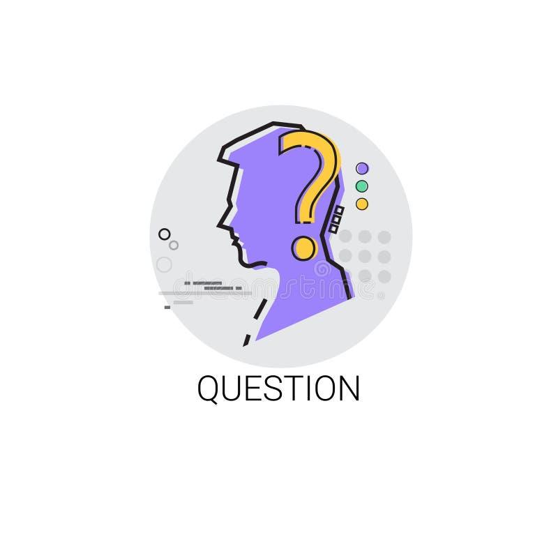 La question pensent l'icône de processus créative d'affaires de nouvelle inspiration d'idée illustration de vecteur