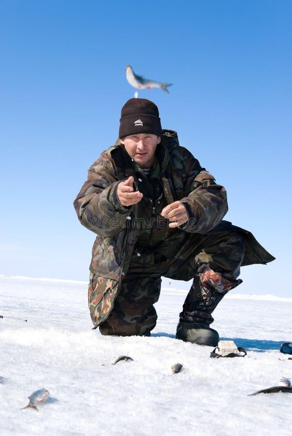 La quinta pesca del Baikal immagine stock