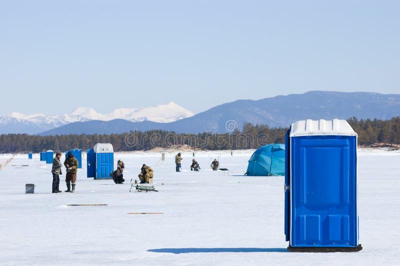 La quinta pesca del Baikal immagini stock