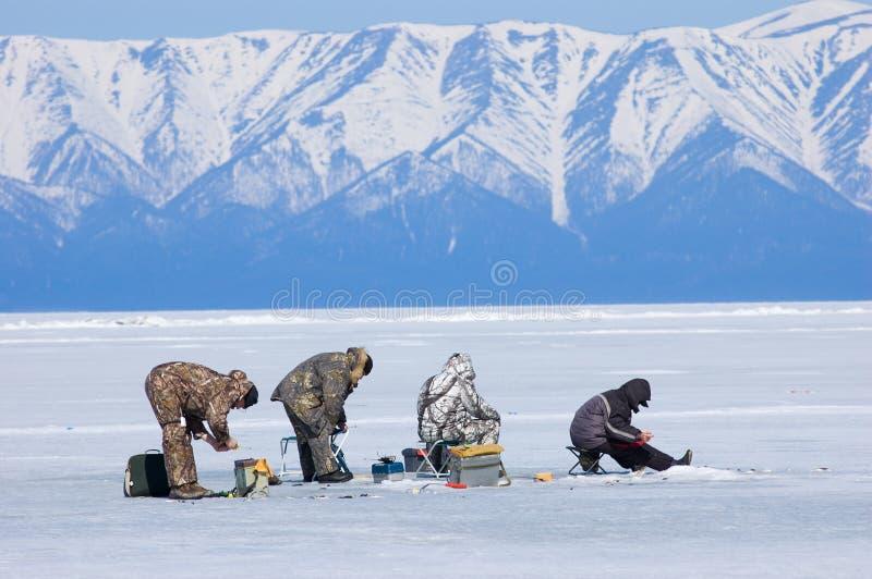 La quinta pesca del Baikal fotografia stock libera da diritti