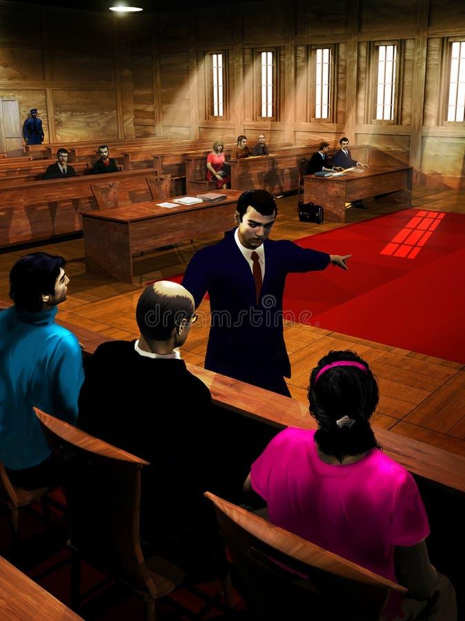 La réclamation du procureur illustration libre de droits