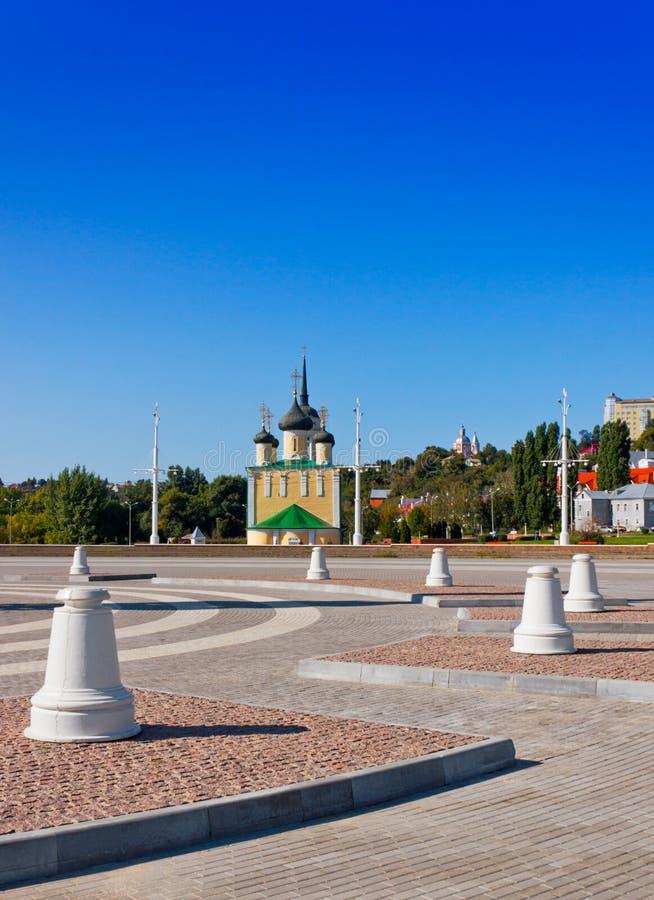 La région d'Amirauté dans la ville de Voronezh photographie stock libre de droits